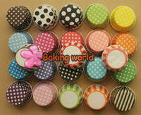 Wholesale Hot selling Mixed color Polka DOT color Stripe Round MUFFIN Paper Cake Cup Cake case