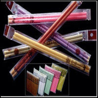 Wholesale Indian Ear Candles With Earplug Fragrance Ear Candle Straight Type Color pair