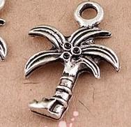 Wholesale IN STOCK MIC Tibetan Silver Plated Coconut Palm Tree Charms Pendants Pendant