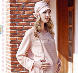 Wholesale 200pcs Fashion Pregnant Women Hat Gravida Cap Puerpera Lace Hats Cotton Cap Gravida Care B39