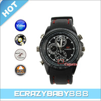 Wholesale 4GB Stylish Waterproof Motion Detector Sports Wrist Watch Style Spy Camera DVR Camcorder with Webcam