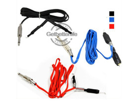 Wholesale 1 Clipcord for Tattoo Mahine Gun Kit Power Supply Black Red Blue colors Available Clip Cord FreeUS