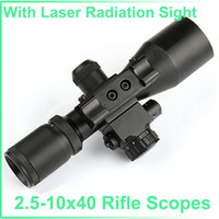 Wholesale Tactical x40 Rifle Scopes Riflescope with Laser Radiation Sight Black
