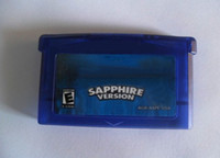 Wholesale 160pcs Game Card Game Cartridge Sapphire for GBA SP DS Console mix order via DHL