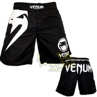 Wholesale 100 New MMA Venum Light Classic Black Fight short breeches Beach short L XL XXL XXXL