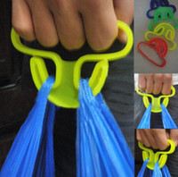 Wholesale Carrying Handle Relaxed Carry Shopping Handle Plastic Bag Handler Carrier Mention Dishes