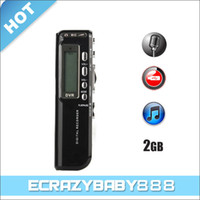 Wholesale High Definition GB Mini Digital Voice Recorder with Mp3 Building Speaker