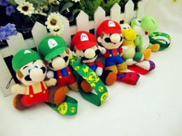 Wholesale Super Mario Bros Louis yao west dinosaurs Koopa Yoshi animation phone s accessories Keychain straps