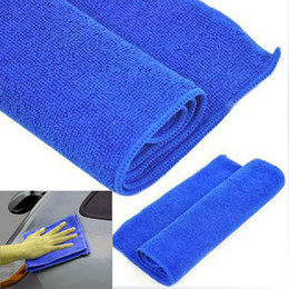 New 30x30CM Microfiber Towel Cloth Cleaning Wash Car Cleaner blue