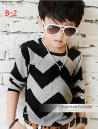 Wholesale 2013 Hot Sale Boys Children clothing wavy lines T shirt kids Primer shirts gray