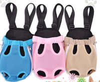 Wholesale Nylon Pet Dog Carrier Legs Out Front Style Backpack Pet Bags Dog Mesh chest bag Net Bag Any Durable
