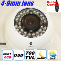 Wholesale SONY CCD TVL Adjustable mm ZOOM Lens Security Metal Dome Camera