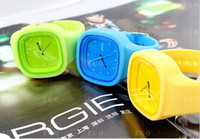 Fashion Unisex Quartz-Battery 2013 Fruit Wrist Watch Four Square Lovely Watch For Girls Boys Attractive Style Free Shipping