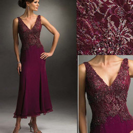 Wholesale Lace With Beads Sexy Noble Style Mother Evening Dresses Sheath Mother Of Bride Dresses M00057