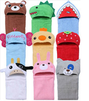 Wholesale Baby Kids Baby Bath Robes Daily goods Bear Shark Frog bathrobe bathing kid robe bathblanktet