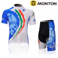 Wholesale 2012 BIANCHI white cycling sleeve Jersey of short Set S M L XL XXL XXXL