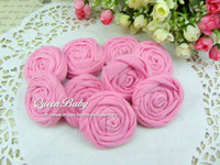 Wholesale Fabric Rolled Flowers Cotton Rolled Rose Flowers Flat Back QueenBaby