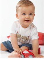 Wholesale baby boy s short sleeve suits cotton T shirt denim jean pant babywear summer children outfits