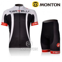 Wholesale 2012 CASTELLI Black Short Sleeve Cycling Top Set S M L XL XXL XXXL