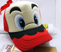 Wholesale Super mario bros Mesh Trucker Hat costume anime cosplay fashion sun hat cap inches