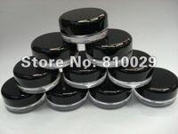 Wholesale g Black lid empty plastic cosmetic jar Nail art bottle Cosmetic Packaging
