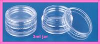 al por mayor fimo uñas 3d-T-03R 3g plástico vacío claro jar nail art herramienta cosméticos contenedor brillo agitador polvo tarro