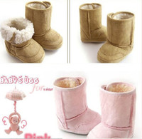 Wholesale NEW Baby s shoes chamois snow boots prewalker lint Shoes toddler shoes anti skidding shoes