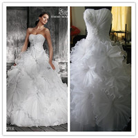 Hollow wedding dresses 2011 - 2011 Sexy Sweetheart Layered Crepe Rhinestones Ball Gown Beading Wedding Dresses AL2458 With Lace Up