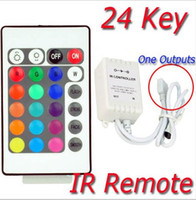Wholesale and retail key infrared controller RGB LED Strip Keys IR Remote Contr