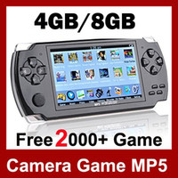 "4.3 inch No 8GB 4.3"" LCD Game Console PMP MP4 MP5 Player 8GB Free 2000+ games Media Player AV-Out FM with Camera"