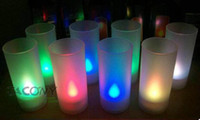 Wholesale LED Blow On Off Candle Colorful LED Light Candle Lights Lamps Cup acoustic control