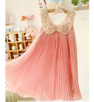 CMPIE brand baby girl kids sequin dress pleated dress pleats...
