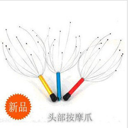 Wholesale Gold Head Neck Scalp Massager Massage Stress Release Head Massager