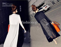 Wholesale 2012 New Style Women s Jackets Long Chiffon Sunscreen Clothing Cardigan Fashion Thin Coat LYZY