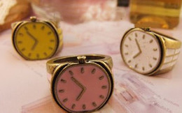 Wholesale-Restore candy color small watch ring finger rings HS3