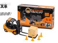 Wholesale 12pcs Six channel RC Engineering Forklift Remote Control Forklift RC Truck Remote control car