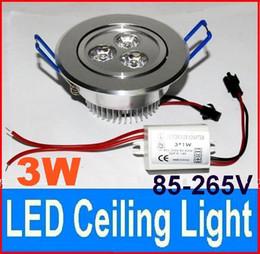 3W LED Ceiling Light 85-265V Dimmable LED Downlight Spotlights Fixture Lamp White ,Warm White --50pcs