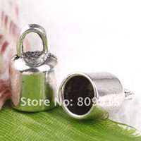 Alloy Other  70pcs lot Tibetan Silver End Caps For 6mm Leather Cord CA450