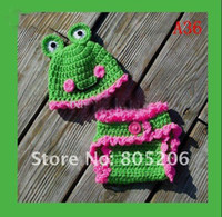Wholesale Baby Crochet Cotton Diaper Cover with Matching infant crochet hat set for photograph prop dfery