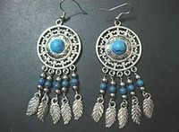 Wholesale 5 pieces Beautiful Tibet Silver Turquoise Women s Earring