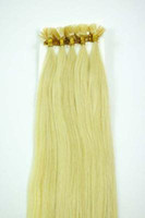 "#613 straight 1.0g Wholesale - 300S 18"" -24""Pre Keratin Flat-Tipped Human Hair Extensions #613 ,1g s 100g set"