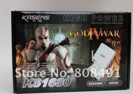 KASENS KS-1680 Realtek 8187L SMA 68dbi 6000mW 5000M high power wireless usb adapter wifi adapter