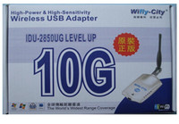 54Mbps USB High Power 10G 1000mw Wireless WIFI USB Adapter Wifly-city 802.11b g IDU-2850UG 6pcs DHL free