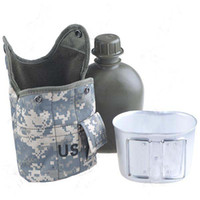 Wholesale US Army Military Outdoor Water Bottle Drinking Container amp Canteen Mug amp Camouflage Warm Storage Bag