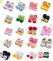 Boy baby boy slipper - baby fashion cotton socks lovely booties infant slipper socks pair