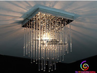 Wholesale 20cm Led Crystal Ceiling Light Fixture Pin Lamp Lighting Prizm Chandelier