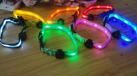 Wholesale 30 off Colors LED Dog Pet colorful Light Flashing Safety Collar Tag ps by DHL xmas sale