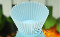 Wholesale hot sales Silicone Circular Baking Cake Cup Muffin Tools High Temperature Mold For Egg Tarts Pudding