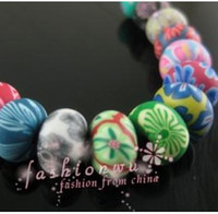 Wholesale IN STOCK MIC MixColor Rondelle Handmade Polymer Clay Fimo beads Fit Earrings Bracelet mm