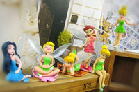 High Quality PVC Tinkerbell Fairy Adorable Figures 6 pcs Act...
